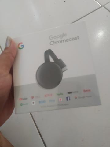 Chromecast novo na caixa lacrado