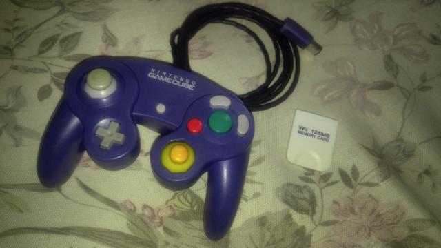 Controle game cube + memory card