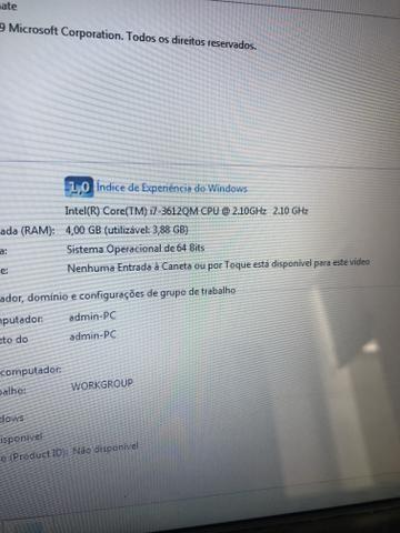 Notebook Core i7 4gb HD500Gb formatado em até 3x no cartão - Foto 5