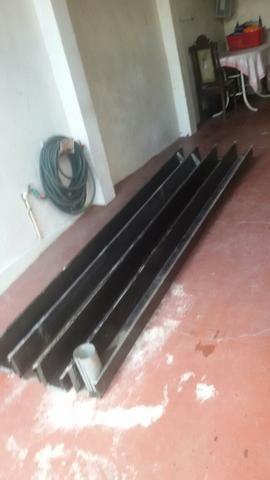 Calha galvanizada zerada 12 metros de cor preta