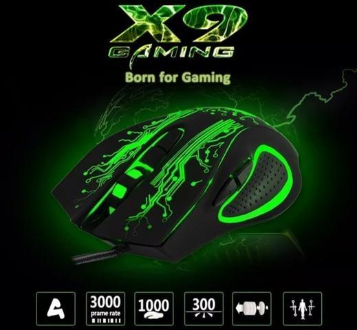 Mouse Gamer h'maston 6 botões e com LED Promoçao imperdivel