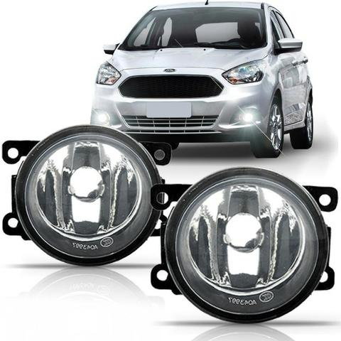 Par Faróis de Milha Neblina Ford Fiesta New Fiesta KA e New KA Lentes de Vidro - Foto 2
