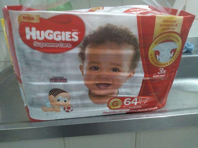 Pacote de 64 fraldas tamanho g Huggies - Foto 3
