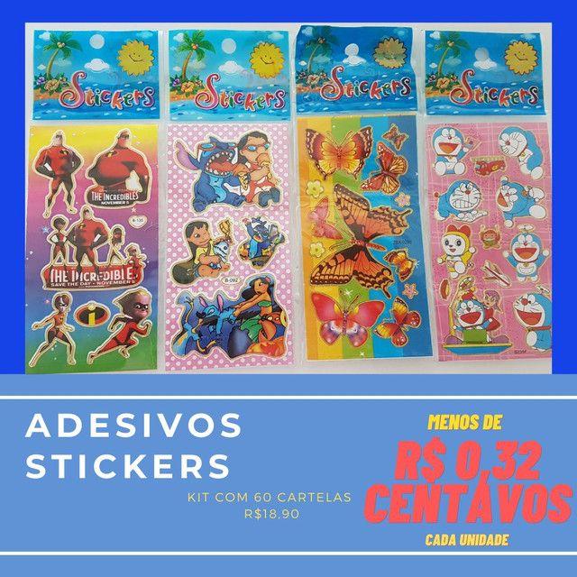 Adesivos Kit 60 cartelas R$18,90