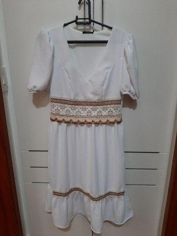 Vestido branco nunca usado. - Foto 4