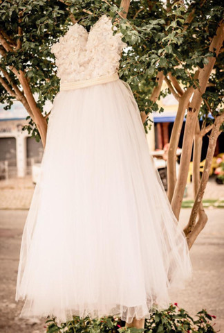 Vestido de noiva usado apenas 1x - Foto 2