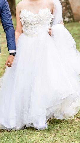 Vestido de noiva usado apenas 1x - Foto 3
