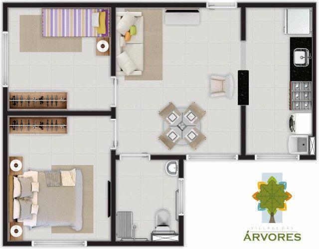 Village das árvores, 2 dormitórios// apartamentos no turu_ empreendimento canopus - Foto 2