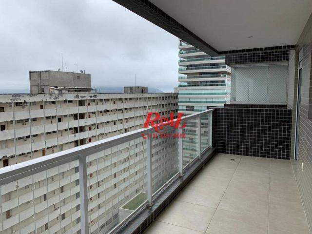 Apartamento com 2 dormitórios (1 suíte) à venda e locação, 72 m² - Gonzaga - Santos/SP