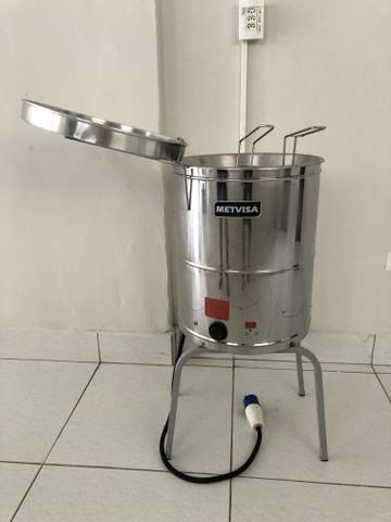 Fritadeira agua e oleo 220 volts com cesto duplo