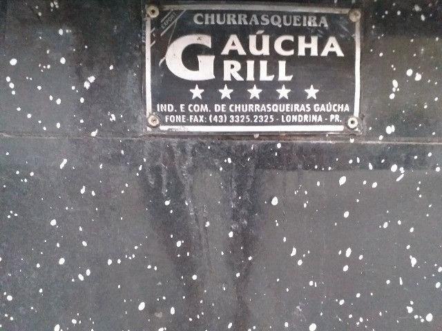 Churrasqueira Apolo 10 Esmaltada Preto Granito - Foto 4