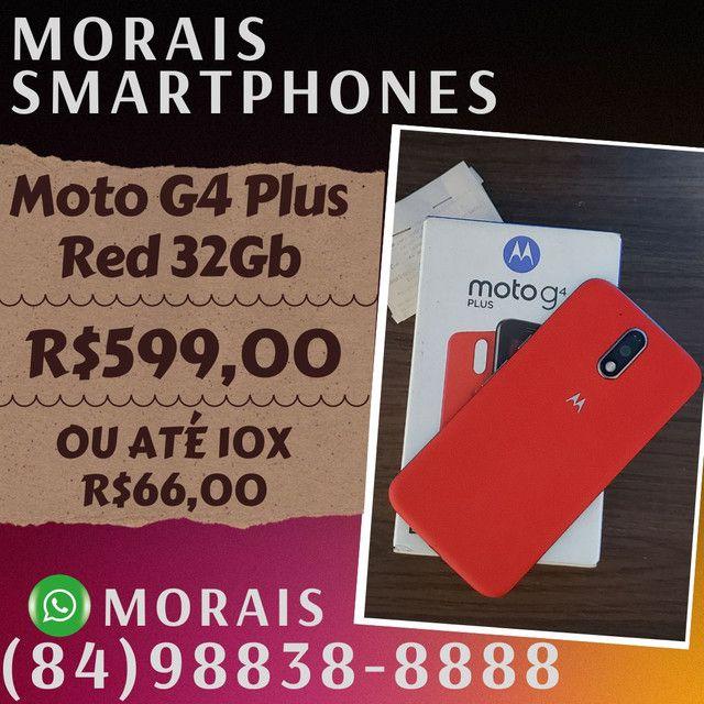 Moto G4 Plus Red 32Gb (SEMI-NOVO IMPECÁVEL+NOTA FISCAL)  - ( 8 4 ) 9 8 8 3 8 - 8 8 8 8