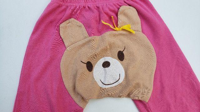 Calça infantil moletom ursinho tamanho 2 - Foto 3