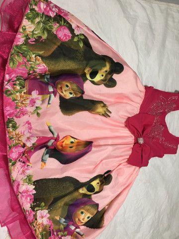 Vestido Marsha e o urso +painel de pano - Foto 2