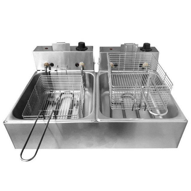 Fritadeira Elétrica 10 Litros Profissional 2 Cubas