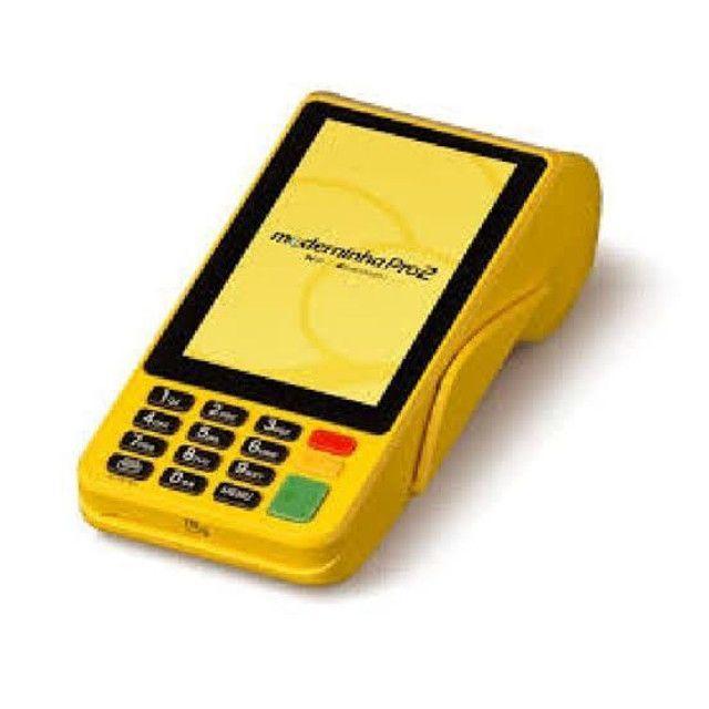 Máquina de cartão da PagSeguro aceita débito e crédito e refeição  - Foto 2