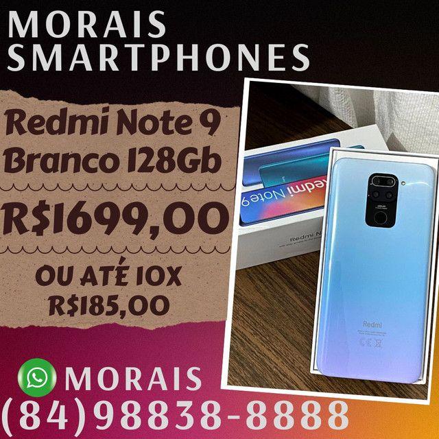 Xiaomi Redmi Note 9 128Gb Branco Pérola (Lacrado)  - WHATS ( 8 4 ) 9 8 8 3 8 - 8 8 8 8