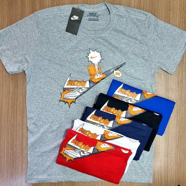 Camisas Masculinas 100% Algodão fio 30.1  - Foto 4