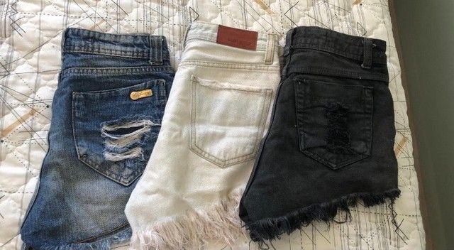 Vendo Shorts jeans seminovos