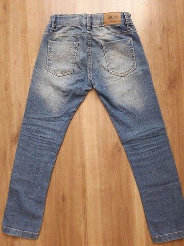 Calça jeans infantil tam 8 - Foto 3