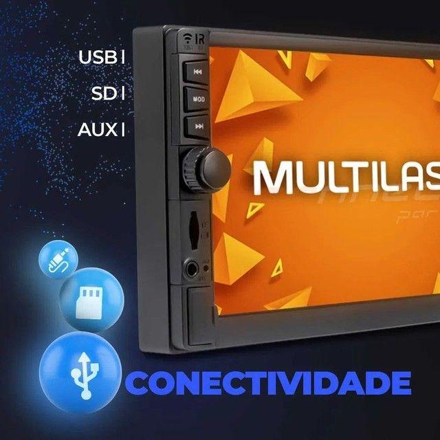"""Central Multimídia 2 Din 7"""" Multilaser Evolve GP345 TV Digital BT USB Espelhamento<br><br> - Foto 4"""