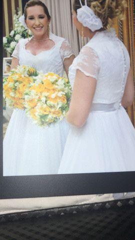 Vestido de noiva -desapego - Foto 3