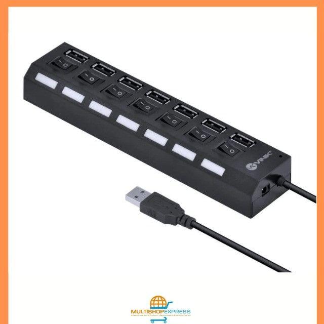 Hub USB 2.0 7 portas com LED indicador Vinik - Foto 3