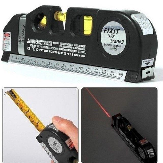 (NOVO) Nível Laser Profissional Trena Level Pro3 Estágios Nivelador - Foto 2