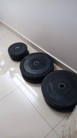 Anilhas Olímpicas Bumper - Crossfit - LPO - Academia - Musculação - Treinos - Foto 6