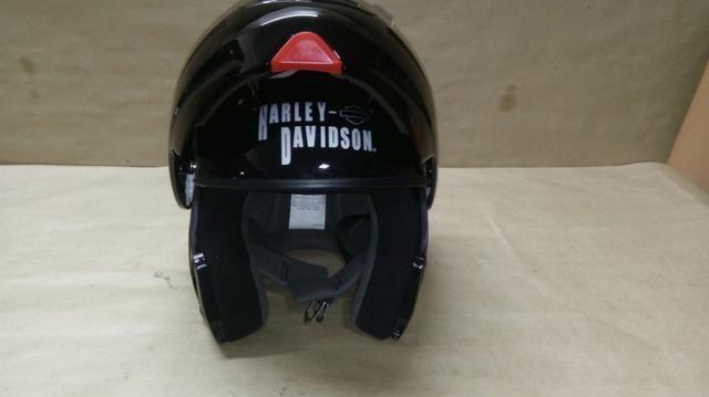 Capacete importado original, Harley Davidson escamoteável - Foto 7
