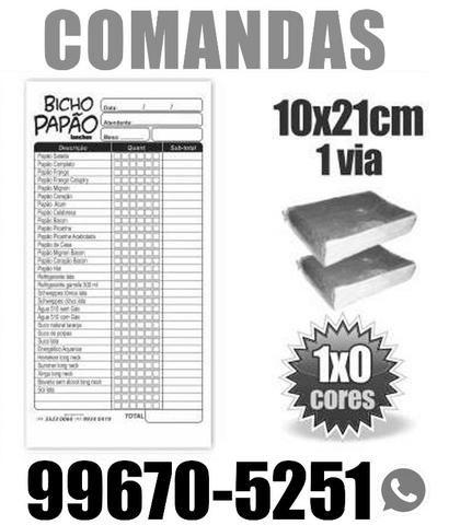2.500 Comandas I Talão Pedidos I Tamanho 10x21cm.R$ 178,00