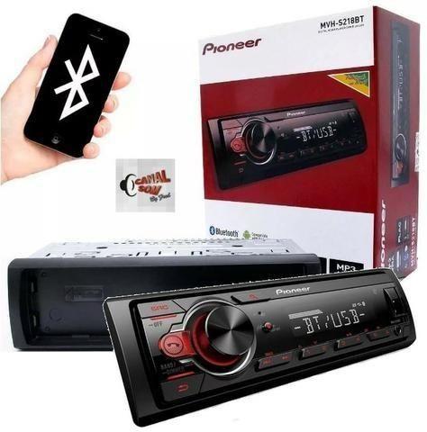 Mp3 Pioneer Mvh-S218BT Usb, Bluetooth! 349,99 À Vista ou 12x 35,00 Instalado Canal Som