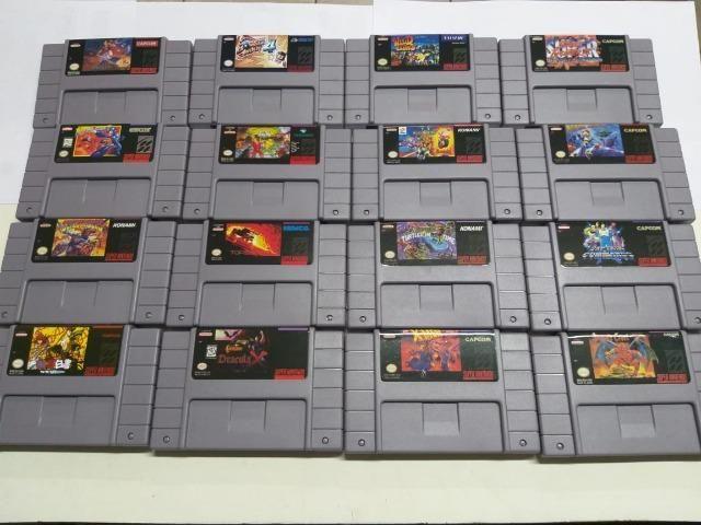 Cartucho Jogos Super Nintendo - Titulos Variados - Fita Snes
