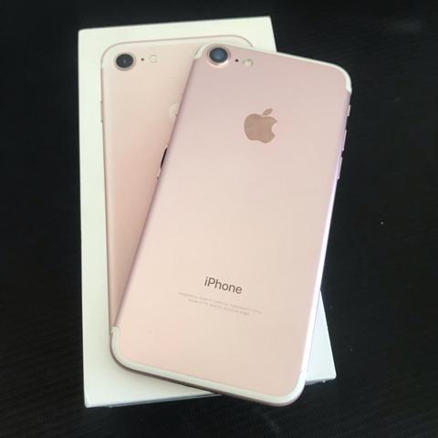 IPhone 7 32gb Rose Gold, seminovo, ac trocas, até 12x