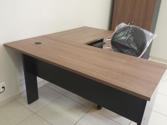 Estação de trabalho para escritório modelo em L (nova) - Foto 6