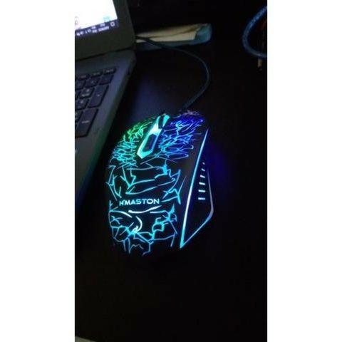 Mouse Gamer h'maston 6 botões e com LED Promoçao imperdivel - Foto 2