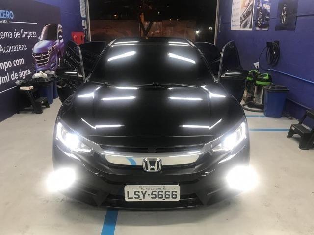 Honda Civil EXL, 2017, preto Batmóvel. Único Dono. Maravilhoso