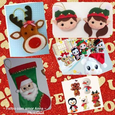 Artigos natalinos em feltro - Foto 2