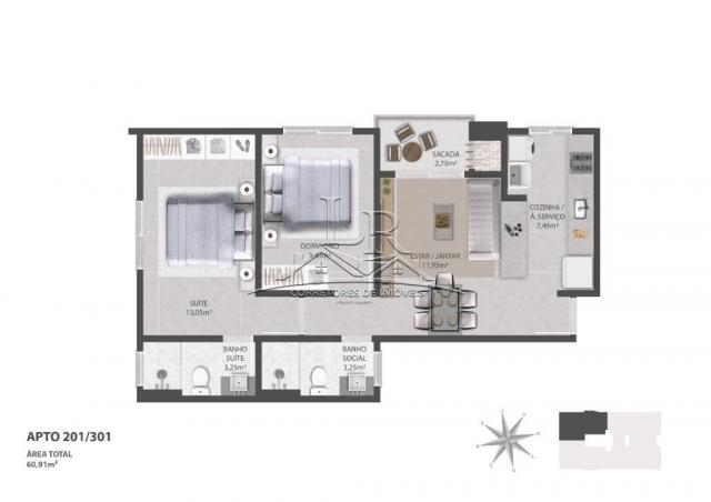 Apartamento à venda com 2 dormitórios em Ingleses do rio vermelho, Florianópolis cod:1647 - Foto 6