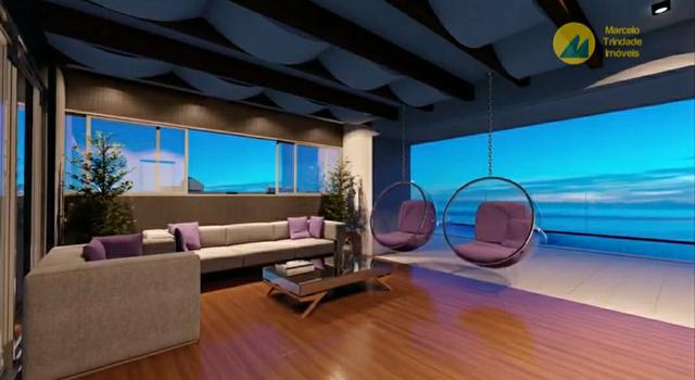 Studio com varanda gourmet e vista pro mar - Foto 4
