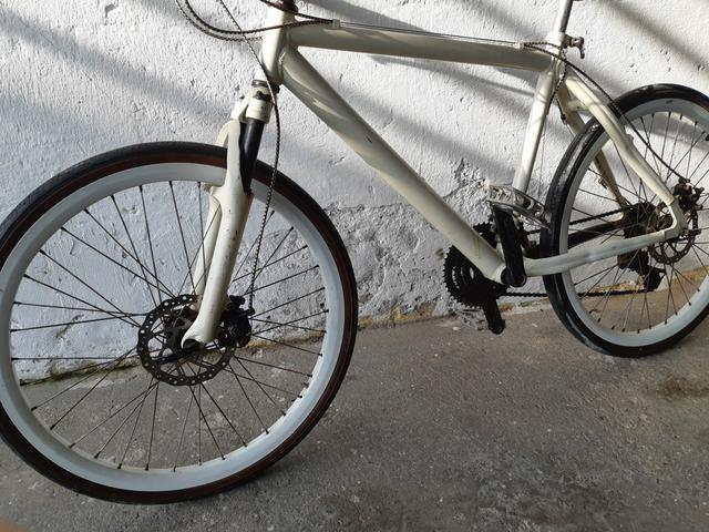 Bicicleta de alumínio freio a disco - Foto 2