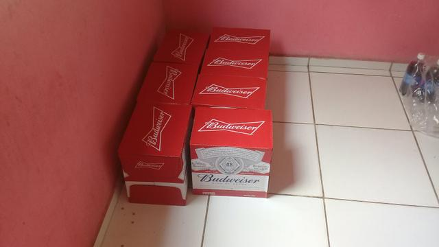 Vende-se caixa de Budweiser 550 ml