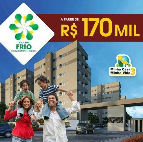 Vila do Frio Condomínio club 3 qrts 1 suite 64m, com piscina e Varanda e Suite (Promoção)