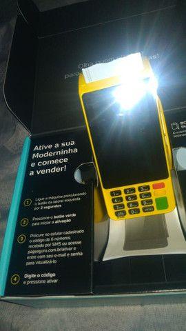 Máquina de cartão da PagSeguro aceita débito e crédito e refeição  - Foto 3