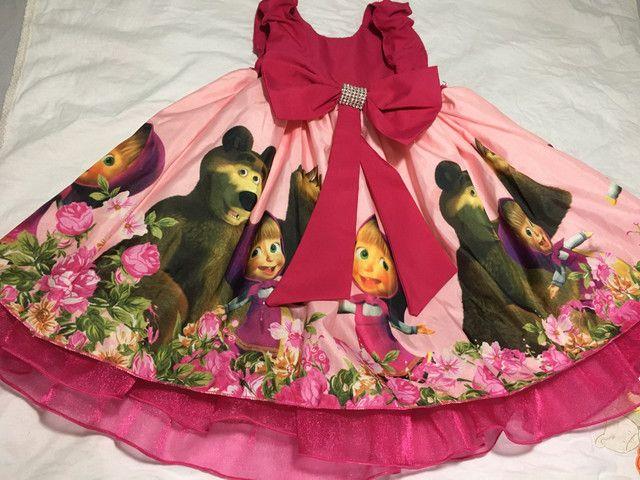 Vestido Marsha e o urso +painel de pano - Foto 3