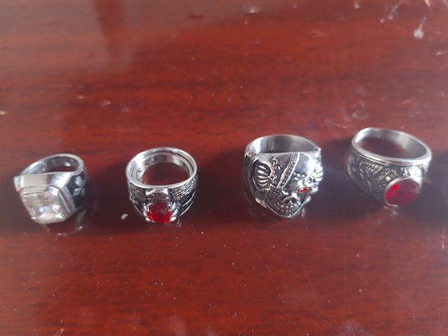 Vendo peças pulseiras anéis e pingentes de aço cirúrgico - Foto 3