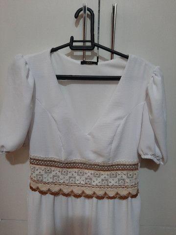 Vestido branco nunca usado. - Foto 3