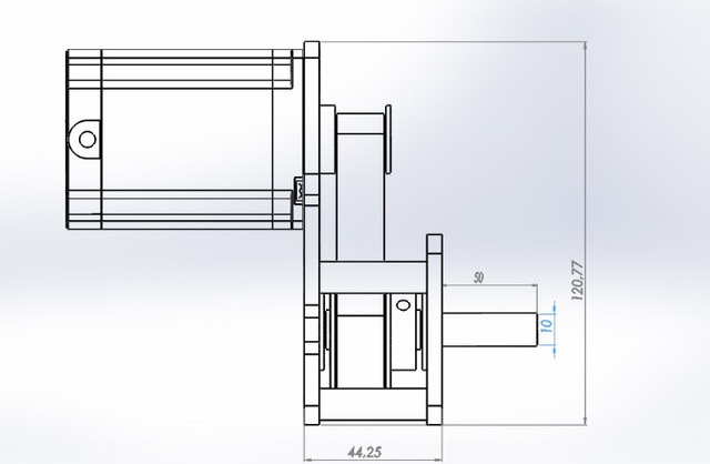 Motor De Passo Com Redução 1:3 Cnc Plasma,laser,router - Foto 2