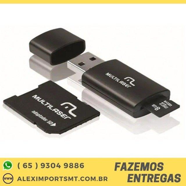 Cartão De Memória Multilaser 8 Gb Micro Sd+usb Barato