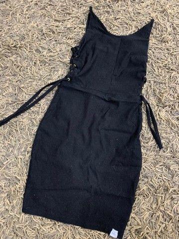 Vestido Justo Preto